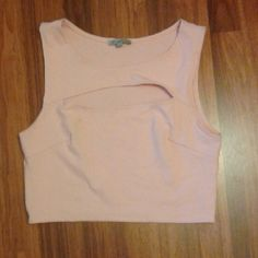 Crop top Charlotte russe crop top  Worn once  Tiny flaw as seen in picture  Size large Tops Crop Tops