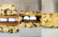 Giant S'mores Stuffed Chocolate Chip Cookies | Smells Like Home
