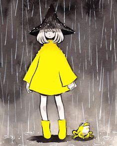 "12.3 mil Me gusta, 56 comentarios - Heikala (@heikala) en Instagram: ""Inktober day 17, Rain Witch #inktober2016 #inktober #witch #rain"""