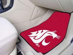 "Washington State University 2-pc Carpet Car Mat Set 17"""" X 27"""""