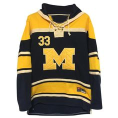 Michigan Hockey Style Hooded Sweatshirt - SportsFanStudio
