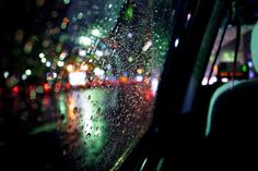 rain + city lights