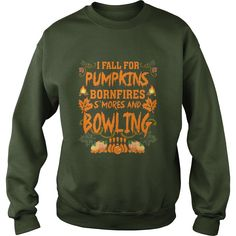 I Fall For Pumpkins Bonfires S'mores And #Bowling T-Shirt, Order HERE ==> https://www.sunfrog.com/Automotive/140857091-1078202987.html?58114, Please tag & share with your friends who would love it, #bowling tips how to make, baseball room, baseball mom #barmannaevent #weddings #women    #bowling #chemistry #rottweiler #family #posters #kids #parenting #men #outdoors #photography #products #quotes