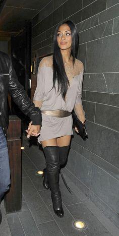 Nicole Scherzinger Over the Knee Boots - Nicole Scherzinger Looks - StyleBistro