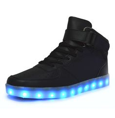 Aliexpress.com : Buy 8 Colors New Simulation Women Led Shoes for Adults Black Mens Led Sneakers USB Charging Light Shoes High Top Glowing Sneaker from Reliable shoes saucony suppliers on LED shoe | Alibaba Group