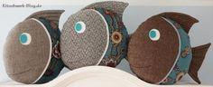Fisch, Kissen, nähen, stoff, Fabric, fish, pillow, sewing