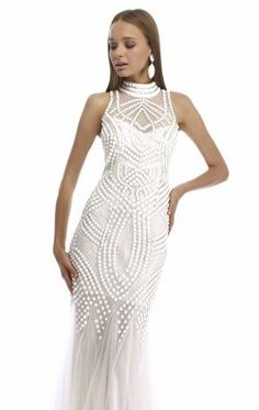 Embellished High Neck Gown by Nika Formals 9300