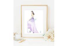 Ortensia - Print, Bride Illustration , Wedding Dress,  Fashion Illustration, fashion illustrator by @MissStyleCreazioni ♥ ♥ ♥ ♥ ♥ ♥ www.etsy.com/shop/MissStyleCreazioni ♥ ♥ ♥ ♥ ♥ ♥