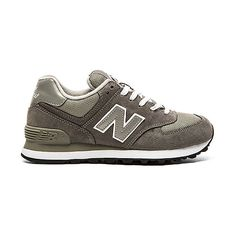 New Balance 574 Core Collection Sneaker Shoes ($75) ❤ liked on Polyvore featuring shoes, sneakers, rubber sole shoes, lace up sneakers, leather lace up sneakers, new balance shoes en lacing sneakers