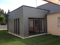 Bardage Maison Moderne extension ossature bois moderne bardage peint sivalbp gris