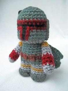 Boba Fett Amigurumi, Crocheted by Angry Angel #crochet #amigurumi #StarWars