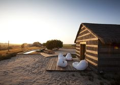 Let's escape to Casas Na Areia - a beautiful retreat designed by Manual Aires Mateus in Comporta, Portugal. Glamping, Hotels In Portugal, Lisbon Portugal, Bungalows, Ambiance Hotel, Camping Glamour, Hotel W, Romantic Escapes, Places