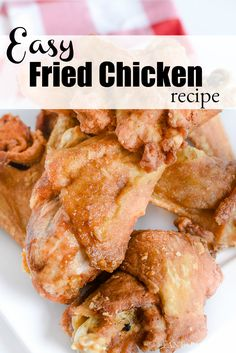 Easy fried chicken recipe using a few seasonings on hand make this so easy and the best! Fried Shrimp Recipes, Seafood Recipes, Cooking Recipes, Seafood Meals, Grilled Shrimp, Chicken Leg Recipes Easy, Easy Appetizer Recipes, Yummy Recipes, Appetizers