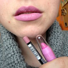 Pink lippy combo including @nyxcosmetics & #ellentracey thick stick #beauty #makeup #bbloggers #LOTD #FOTD #MOTD