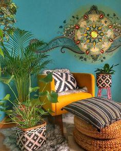 Top Home Design 98 Beautiful Bohemian Living Room Decor Ideas 4 Decor Design, Eclectic Home, Living Room Decor, Bohemian Living Room Decor, Home Decor, Hippie Home Decor, Living Room Interior, Room Decor, Funky Home Decor