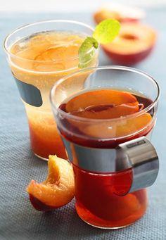 Чай с персиками. Простой рецепт вкусного и полезного чая. Особенно хорош с ароматными сезонными фруктами! #edimdoma #cookery #recipe #tea