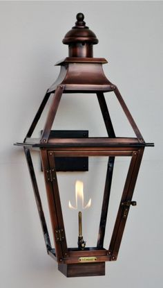 "The CopperSmith Creole 22"" Gas Lantern CR-22-Gas"