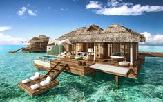 All-Inclusive Overwater Bungalow Resort in the Caribbean | Private Island Overwater Bungalow | Private plunge pool