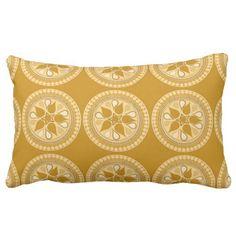 Flying Lotus - Butterscotch Throw Pillows
