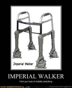 Star Wars AT-AT walker. I can finally look forward to becoming an old person // funny pictures - funny photos - funny images - funny pics - funny quotes - At At Walker, Starwars, Sith, Jar Jar Binks, Dark Vader, Jedi Ritter, Imperial Walker, Star Wars Episoden, Mega Pokemon
