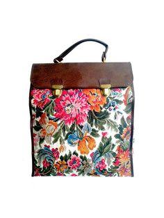 60S TAPESTRY BAG satchel by lesclodettes on Etsy, $30.00