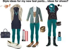 Today I will talk very specifically about how to design teal shirts. Very rarely would I write about Turquoise Pants Outfit, Green Pants Outfit, Jeggings Outfit, Teal Outfits, Casual Work Outfits, Colourful Outfits, Modest Outfits, Shirt Outfit, Teal Skinny Jeans