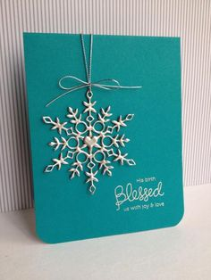 Silver Snowflake, double embossed!!! christma card, christmas cards, stamp, snowflake die card, craft, christmas colors, silver snowflak, snowflak card, snowflake cards