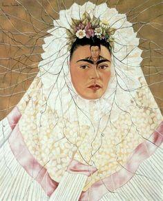 "Frida Kahlo. ""Diego En Mi Pensamiento"". 1943. Óleo Sobre Fibra Dura, 76x61 cm."