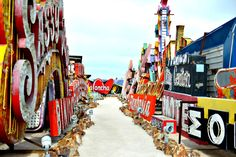 25 Wacky Roadside Attractions for Your Next Road Trip - The Neon Museum (Las Vegas, NV): It's not surprising that a city built for nightlife is home to this gaudy, glitzy museum filled with signs from (Cool Places In California) Summer Travel, Us Travel, Summer Fun, The Places Youll Go, Places To See, Museums In Las Vegas, Neon Museum, Art Museum, Us Road Trip