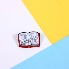 The Book Was Better soft enamel pin, with butterfly clutch on the reverse. Teeny enough to adorn your bag, lapel, pocket or whatever you fancy. Hand designed here in the UK, and manufactured in exclusive low quantities. This pin measures 25mm wide, and is made from lovely black soft enamel for a hard wearing finish.
