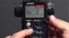 Sekonic L-758 Light Meter Exposure Profile - YouTube
