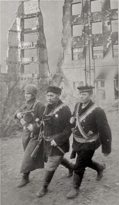 """Defenders of Stalingrad"", 1942: Soldier, Sailor and Civilian defend the city; probably posed, but evocative nonetheless."