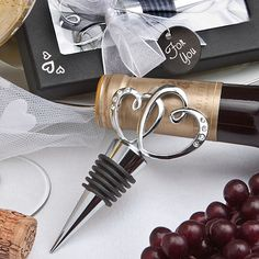 Heart Design Bottle Stopper Wedding Favors