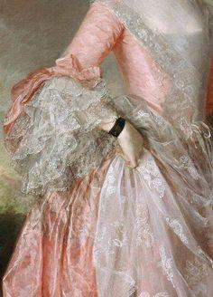 Mary, Countess Howe by Thomas Gainsborough, ca. 1764 (detail) Mary, Countess Howe by Thomas Gainsborough, ca. Thomas Gainsborough, Beauty Standards, Rococo Fashion, Dark Fashion, Lolita Fashion, Fashion Art, Lace Painting, Rococo Painting, 18th Century Fashion