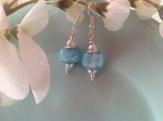 Check out this item in my Etsy shop https://www.etsy.com/listing/190785431/blue-earrings-lamp-work-earrings-beaded