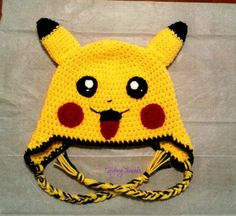 Crochet pikachu,pikachu hat,pikachu costume,pokemon cosplay,pokemon…