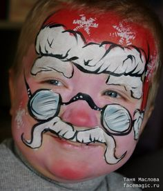 Little Santa. Face paint by Tanya Maslova.