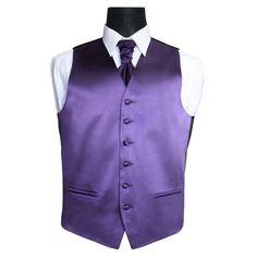 "Plain Purple Mens Wedding Waistcoat Groom Size Medium M 38"" chest | eBay"
