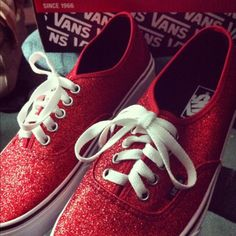sparkly vans - I want these !