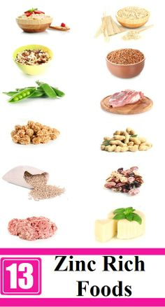 1000 images about foods with vitamins minerals from a for Cuisine zinc