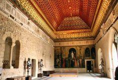 Sala #mudejar del #Alcázar de #Segovia - Imagen cortesía de http://buscandomontsalvatge.blogspot.com.es
