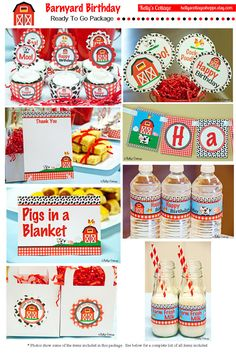 Barnyard Birthday Party Ready To Go Package by KellysCottageShoppe, $8.00