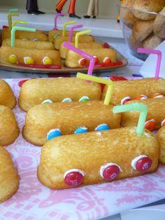 The Yellow Submarine Twinkie treats we made as snacks.