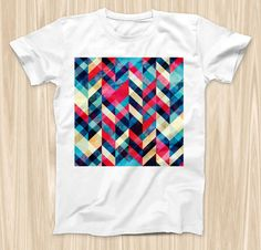The Angled Colored Pattern ink-Fuzed Graphic by TheSkinDudes