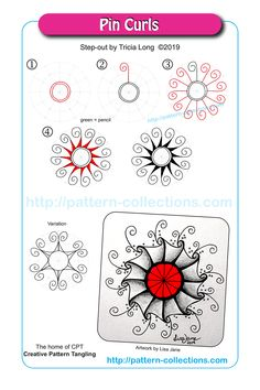 Below is a list of patterns suitable to apply to Creative Tribal Tangling. Step-by-Step instructions can be found in the eBook. Easy Zentangle, Zentangle Drawings, Doodles Zentangles, Zantangle Art, Op Art, Doodle Patterns, Zentangle Patterns, Doodle Borders, Tangle Doodle