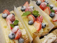 ベリーベリー&モンブランのクリームサンド・シフォン。 - 【E・レシピ】料理のプロが作る簡単レシピ