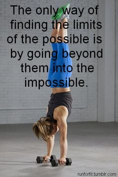 fitness inspiration - doing the impossible