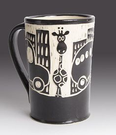 Giraffe in the City Mug: Jennifer Falter: Ceramic Mug - Artful Home