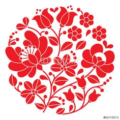 "Download the royalty-free vector ""Kalocsai red embroidery - Hungarian round floral folk pattern"" designed by redkoala at the lowest price on Fotolia.com. Browse our cheap image bank online to find the perfect stock vector for your marketing projects!"