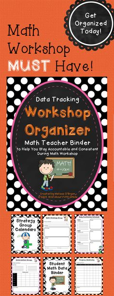 Get ORGANIZED today! Are you trying out Math Workshop for the first time? Or, do you struggle with tracking data and/or staying organized and consistent with strategy groups and conferencing during Math Workshop? If so, this Data Tracking Workshop Organizer: Math Teacher Binder is for you! $ #wildaboutfifthgrade
